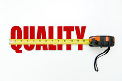 Quality measurement concept Stock Images