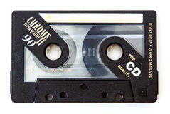 Music cassette. Quality music cassette tape for 90 minutes of music royalty free stock images
