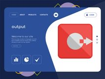 Output Landing page website template design. Quality One Page output Website Template Vector Eps, Modern Web Design with flat UI elements and landscape Royalty Free Stock Images