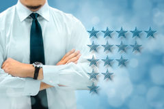 Quality, performance review, evaluation and classification ranki Stock Photo