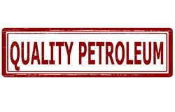 Quality petroleum. Stamp with text quality petroleum inside, illustration Royalty Free Stock Image