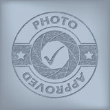 Quality photo approved seal design Royalty Free Stock Photos