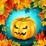 Quality poster for the holiday Halloween. Vector illustration. Quality poster for the holiday Halloween. Vector illustration Royalty Free Stock Photography
