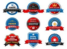 Quality and Premium product flat labels Royalty Free Stock Photo