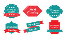 Quality. And premium tags over white background vector illustration Stock Images