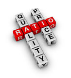 Quality and Price Ratio Stock Photo