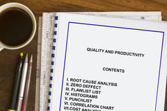 Quality and Productivity Stock Photography