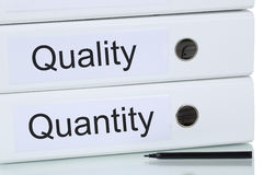 With quality and quantity to success business concept Royalty Free Stock Photos