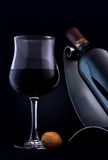 Quality red wine. A glass of an elegant, quality red wine royalty free stock photos
