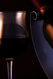 Quality red wine. A glass of an elegant, quality red wine stock photo