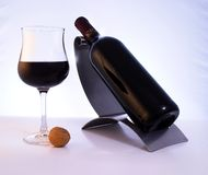 Quality red wine. A glass of an elegant, quality red wine stock image