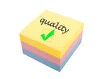 Quality reminder Stock Image
