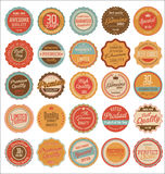 Quality retro vintage badges Stock Image