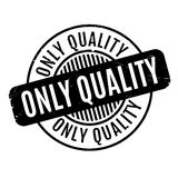 Only Quality rubber stamp Stock Photo