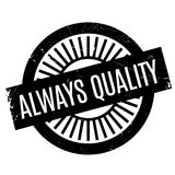 Always Quality rubber stamp Stock Images