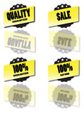 Sale Stickers. Badges Vector with cool reflections Stock Images
