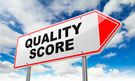 Quality Score on Red Road Sign. Stock Images
