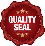 Quality Seal. Illustration of Wax Seal of Quality Royalty Free Stock Photos