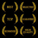 Quality Seals 2 Royalty Free Stock Images
