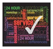 Quality service. Service concept was created with typographic design Royalty Free Stock Image