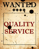 Quality service Royalty Free Stock Images