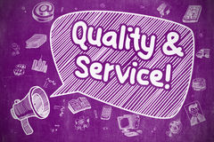 Quality And Service - Business Concept. Stock Photos