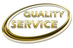 Quality Service Certificate vector illustration