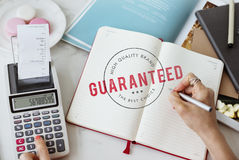 Quality Service Guaranteed Premium Quality Concept Royalty Free Stock Image