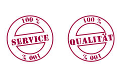 Quality, service stamp Stock Photography