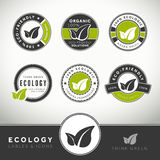 Quality set of ecology labels and badges Stock Image