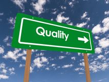 Quality sign Stock Image