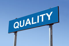 Quality signpost royalty free stock photography
