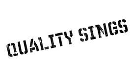 Quality Sings rubber stamp Stock Photography