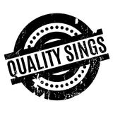 Quality Sings rubber stamp Stock Image