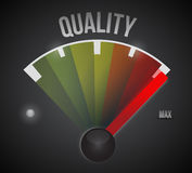 Quality speedometer illustration design. Over a white background Stock Photos