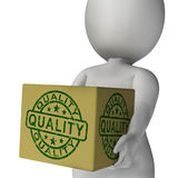 Quality Stamp On Box Shows Excellent Superior Premium Product Stock Photos