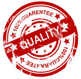 Quality stamp. 100% guaranteed quality stamp isolated on white background Royalty Free Stock Photos