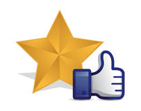 Quality star review thumb up Royalty Free Stock Image