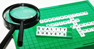 Quality surveying Royalty Free Stock Image