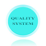 Quality system icon or symbol image concept design with business. For business concept. concept for stickers, banners, cards, advertisement Stock Photos
