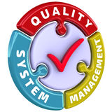 Quality system management. The check mark in the form of a puzzle Stock Photos