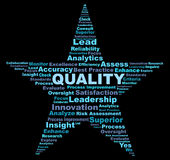 Quality terms in a star shaped wordle graphic Royalty Free Stock Images