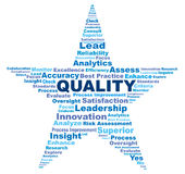 Quality terms in a star shaped wordle graphic Royalty Free Stock Photography