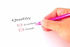 Quality test closeup Royalty Free Stock Photo