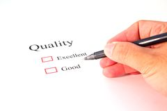 Quality test closeup Stock Photography