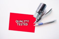 QUALITY TESTED concept Royalty Free Stock Images