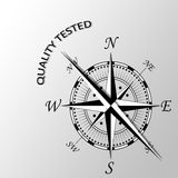 Quality tested written aside compass. Illustration of Quality tested written aside compass Stock Photo