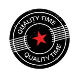 Quality Time rubber stamp Stock Photos