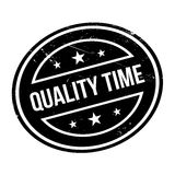 Quality Time rubber stamp Royalty Free Stock Images