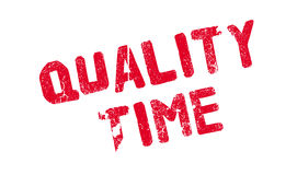 Quality Time rubber stamp Stock Image